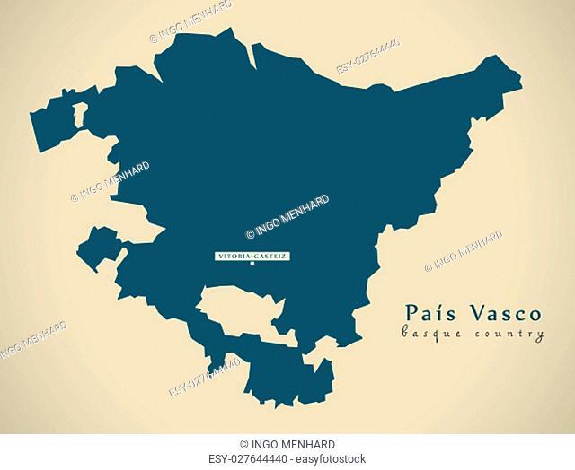 Modern Map - Pais Vasco Spain ES illustration