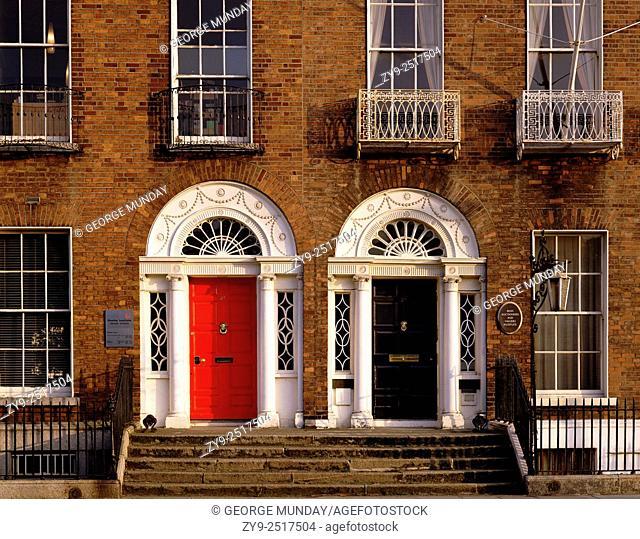 Georgian Doors and Fanlights,. Merrion Square,. Dublin City, Ireland