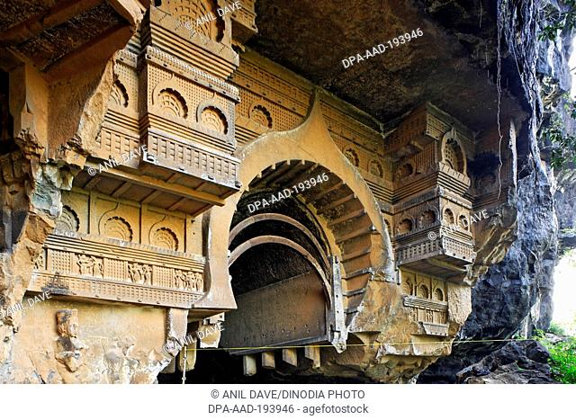 Kondana buddhist caves, karjat, raigad, maharashtra, india, asia