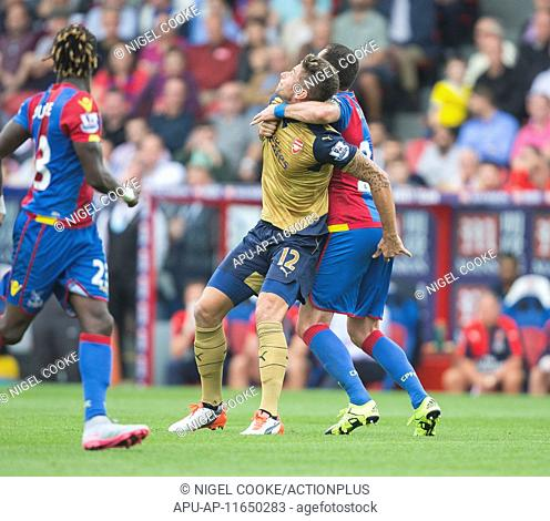 2015 Barclays Premier League Crystal Palace v Arsenal Aug 16th. 16.08.2015. Selhurst Park, London, England. Barclays Premier League