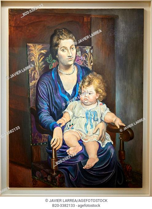 """""""Portrait de Madame Rosenberg et sa fille"""", 1918, Pablo Picasso, Picasso Museum, Paris, France, Europe"""