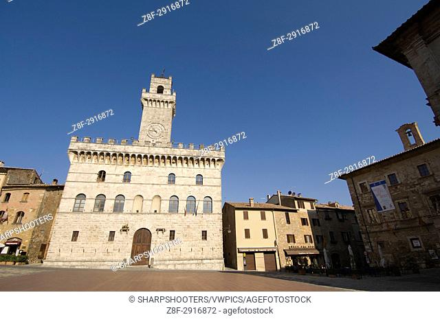 Palazzo Comunale, Montepulciano, Val d'Orcia, Siena province, Tuscany, Italy