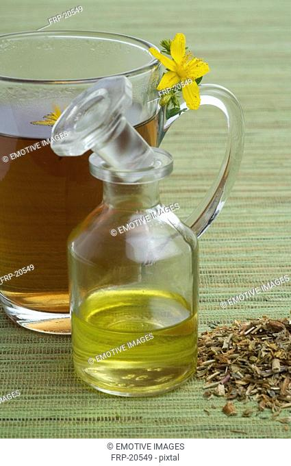 Hypericum tea and massage oil