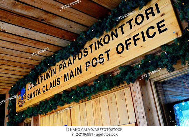 Santa Claus Main Post Office. Official Hometown of Santa Claus in Rovaniemi, Lapland, Finland