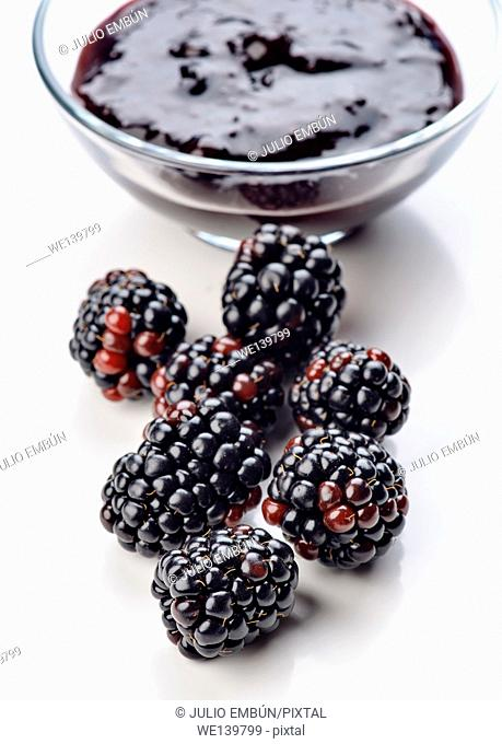 blackberries with jam