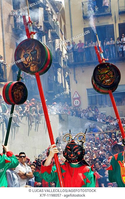 `Maces'mazas-maces `Patum de Lluiment' Patum de lucimiento-showcasing Patum Plaça de Sant Pere  La Patum Masterpiece of Oral and Intangible Heritage by UNESCO...
