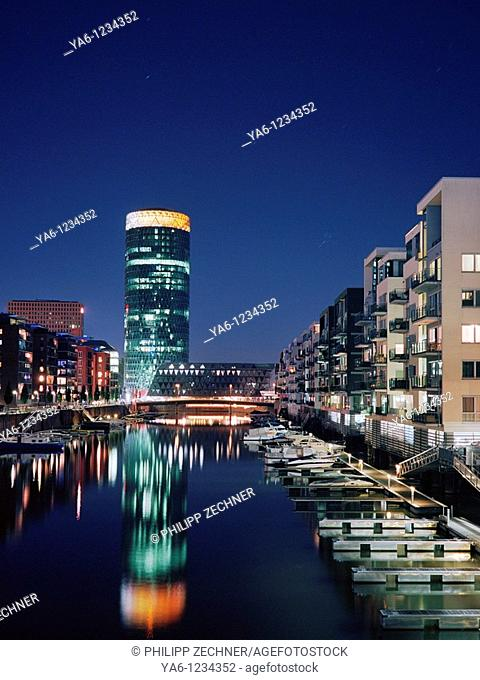 Westhafen marina, Frankfurt