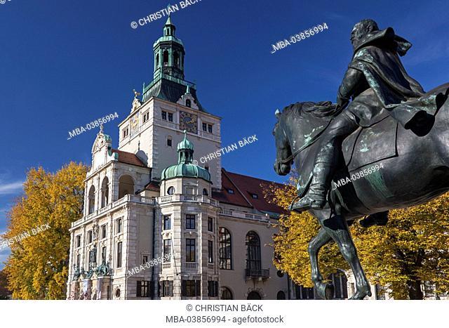 Bavarian national museum in Prinzregentenstrasse, Munich, Lehel, Upper Bavaria, Bavaria, Germany