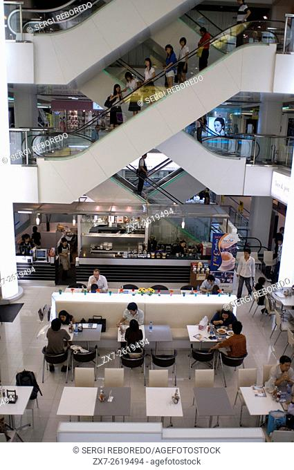 Siam Paragon shopping mall center, Bangkok Thailand. Siam Paragon upmarket shopping mall Pathumwan district in central Bangkok Thailand