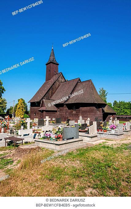 Church of the Nativity of the Holy Virgin Mary in Brzezinki, village in Swietokrzyskie voivodeship. Poland