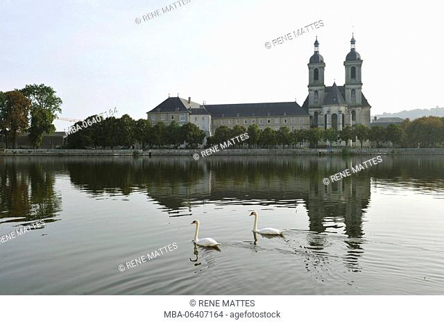 France, Meurthe et Moselle, Pont a Mousson, the Premontes abbey on the border of Moselle river