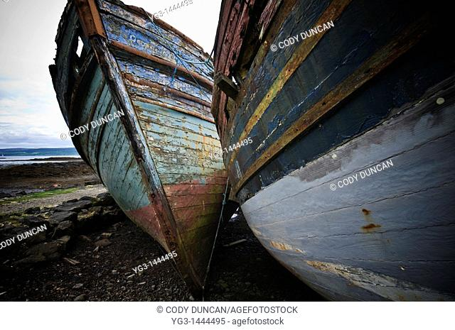 Abandoned boats, Salen, Isle of Mull, Scotland