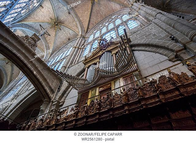Organ of the Cathedral of Avila, Spain