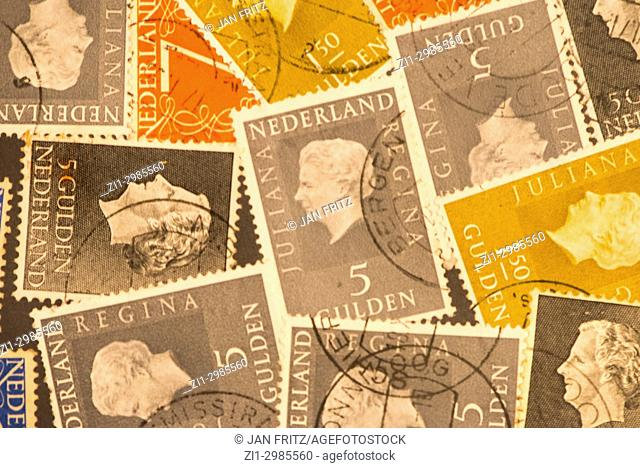 former cents and guilders stamps of Holland