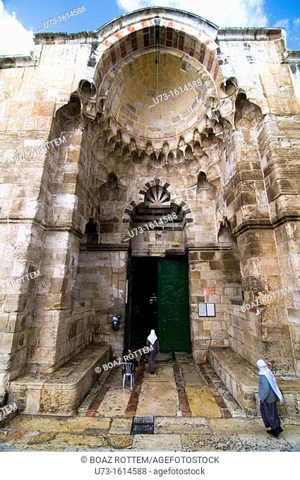 An Arab man leaving the grounds of the Haram al-Sharif / Temple Mount in the old city of Jerusalem