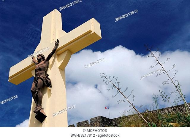 crucifix at Fort St Louis in Marigot, Saint-Martin