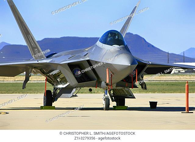 Lockheed F22 Rapter stealth fighter plane of the USAF at Davis-Monthan AFB in Tucson AZ