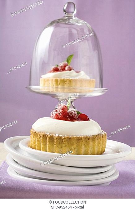 Redcurrant cream tarts