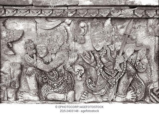 Singaraja temple, The king bowing down in front of the Lord. Bali Indonesia