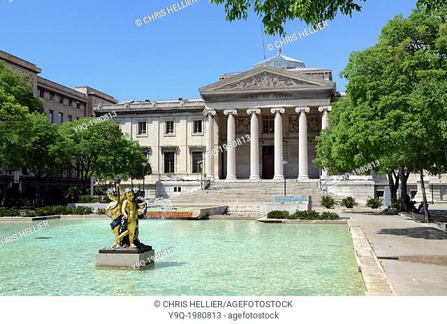 Palais de Justice (1862) and Place Montyon or Town Square Marseille France