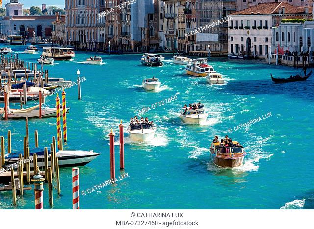 Venice, Grand Canal, boat traffic