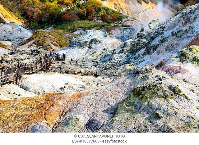 Hell Valley in Hokkaido, Japan