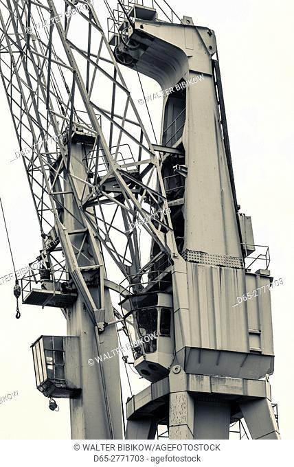 Belgium, Antwerp, old port cranes