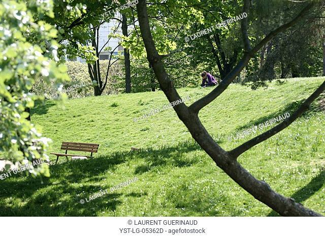 Trees, Parc des Glacières, Bolougne-Billancourt, Hauts-de-Seine 92, Ile de France, France