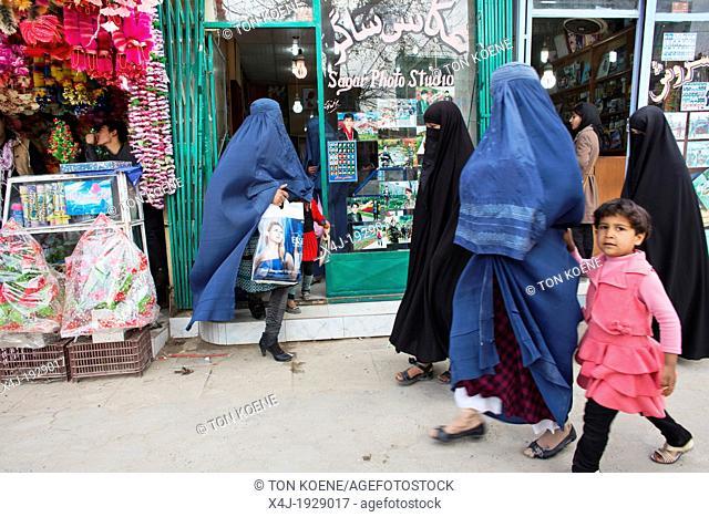 Market in downtown Kunduz, Afghanistan