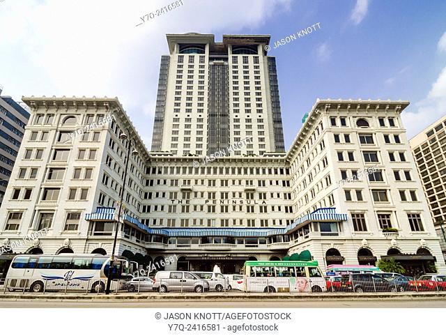 Facade of The Peninsula Hotel, Tsim Sha Tsui, Hong Kong, China