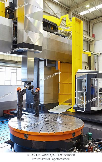 Machining Center. CNC. Gantry mobile milling machine. Guided hydrostatic axis. Design, manufacture and installation of machine tools