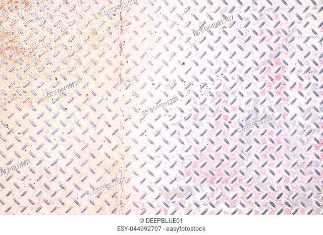 Dirty Grunge metal diamond plate floor texture background