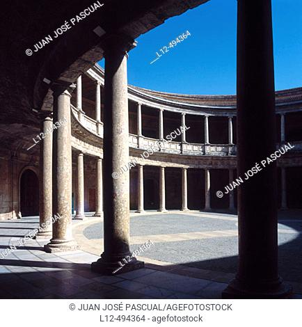 Palace of Carlos V, Alhambra, Granada. Andalusia, Spain