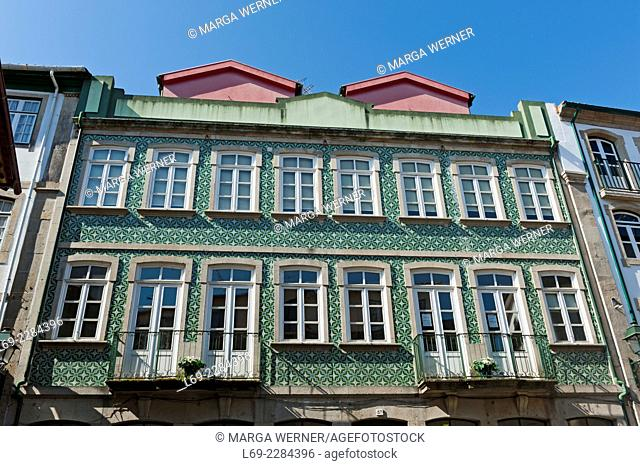 Historical building in the odl town, of Chaves, District Vila Real, North of Portugal, Europe
