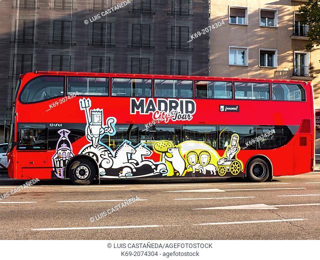 Madrid Tourist Bus. Madrid. Spain