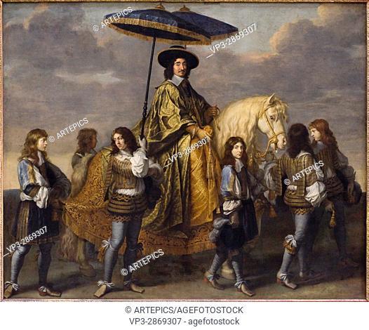 Charles le Brun. Piere Séguier, chancelier de France. 1655-1661. french school. Louvre Museum - Paris