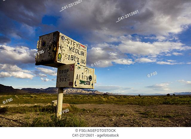 The Black Box. Highway 375. (Extraterrestrial Highway) Near Area 51, Nevada, USA