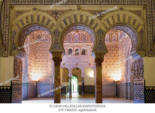 Royal Alcazar,`Salón de Embajadores',Ambassador's Hall ,Sevilla,Andalucía,Spain