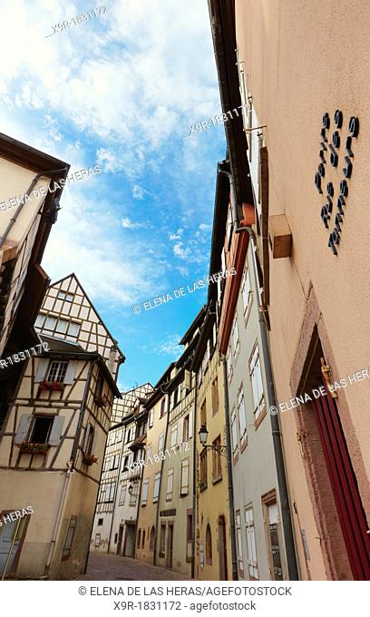 Tanner's district  The houses, mostly date back to the 17th and 18th centuries, were used by tanners who worked and lived there  Colmar, Alsace, France