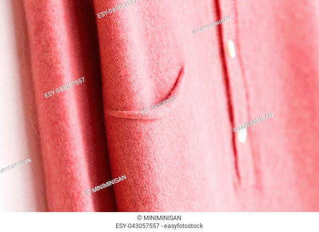 Beautiful, luxurious, knitted sweater in pink, autumn, winter, warm