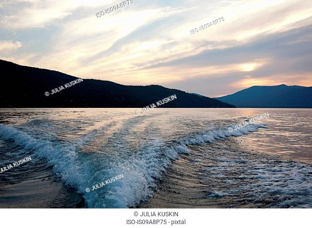 Waves, Lake Pend Oreille, Idaho, USA