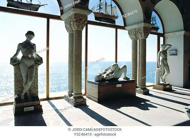 Joan Rebull's sculptures. Maricel Museum. Sitges, Barcelona province, Catalonia, Spain