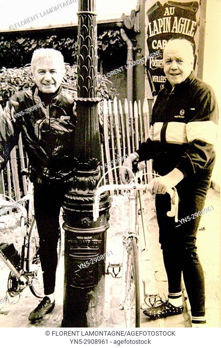 Photo Louis Nucera and Andre Le Dissez, tour de France, cyclisme, Paris, Ile de France, 75018, cycling, picture