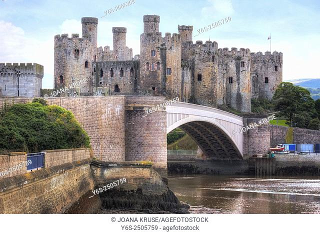 Conwy Castle, Conwy, Wales, UK