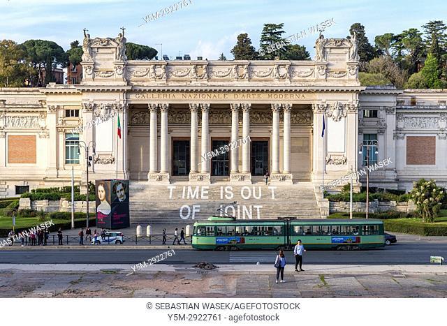 Galleria Nazionale d'Arte Moderna seen from Pincio Hill Park, Rome, Lazio, Italy, Europe