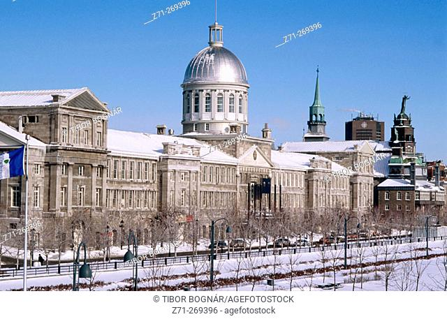 Marche Bonsecours (Bonsecours Market) in Montreal's port. Quebec. Canada