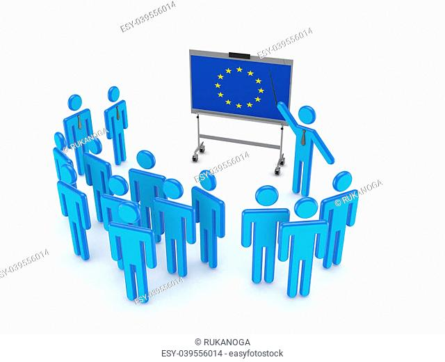 Seminar concept.Isolated on white background.3d rendered illustration