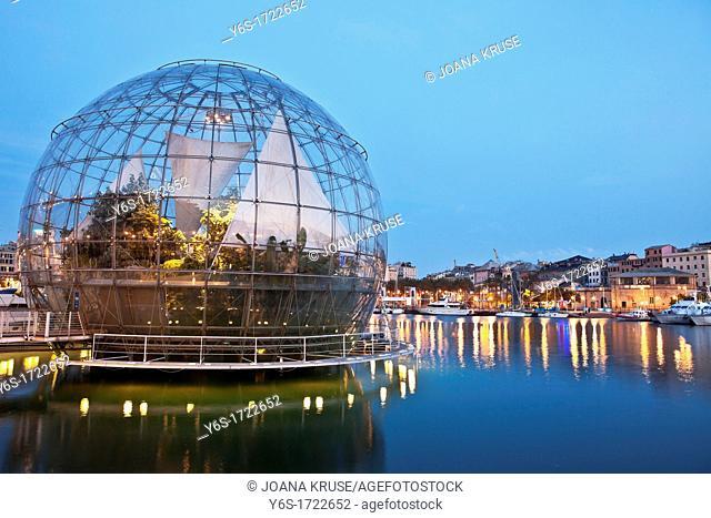 Biosphere, Porto Antico, Genoa, Liguria, Italy