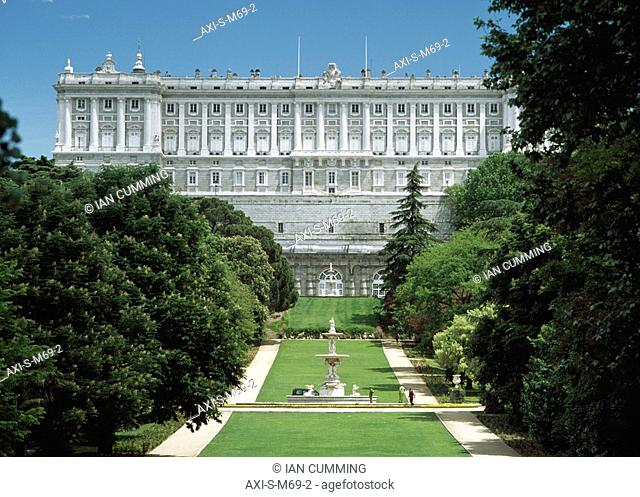 Historic architecture, Royal Palace, Madrid, Spain