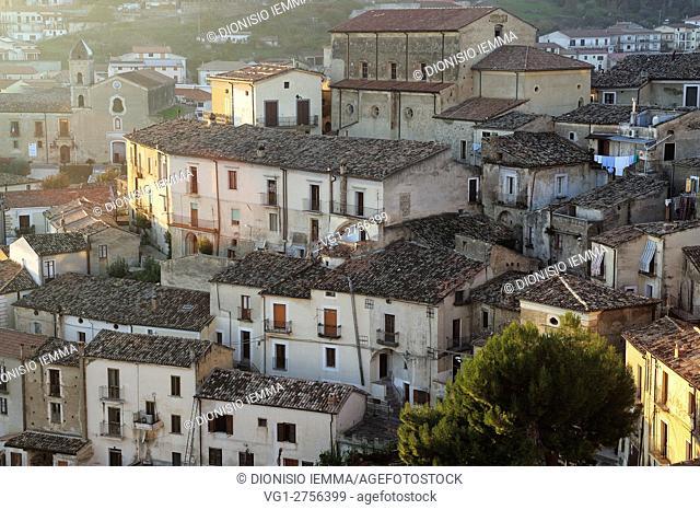 Altomonte, Cosenza district, a view of the village, Calabria, Italy, Europe